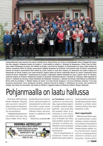 UPM-Kymmene Metsän yrittäjille 48 laatusertifikaattia ...