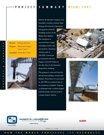 Download PDF - Roberts & Schaefer Company