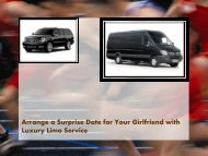 Arrange a Surprise Date for Your Girlfriend with Luxury Limo Service