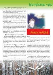 Anitan mietteitä: Edunvalvontaa vai yrittäjyyden edistämistä s. 112