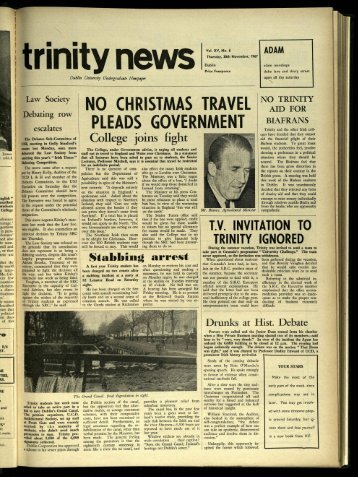 n 0 chr istmas trave l pleads governme nt - Trinity News Archive