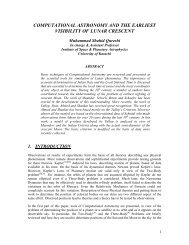computational astronomy and the earliest visibility of lunar crescent