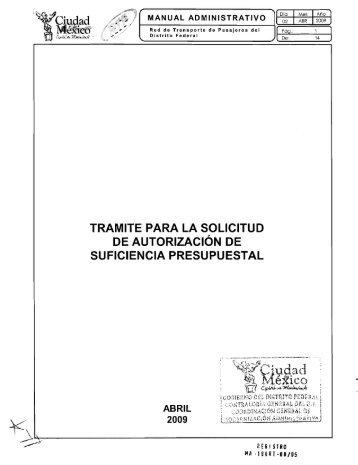 Suficiencia Presupuestal - RTP