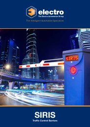 SIRIS Traffic Control Barriers - Electro Automation Group Limited