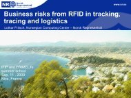 Business risks from RFID in tracking, tracing, and ... - IT is your future