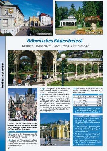 Böhmisches Bäderdreieck Karlsbad - Marienbad