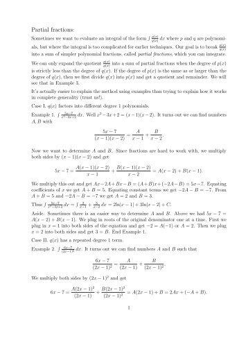 math worksheet : c4 partial fractions worksheet a answers  collection partial  : Partial Fractions Worksheet