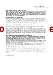 6. Lernen Sie effektiven Umgang mit Ärger. 7. Überprüfen Sie Ihre ...