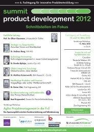 summit product development 2012 - Züst Engineering AG