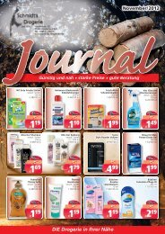 Werbung Oktober 2012 - Sylt Schmidts Drogerien Online Shop