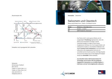 Download Flyer - Sustainable Engineering Network Switzerland