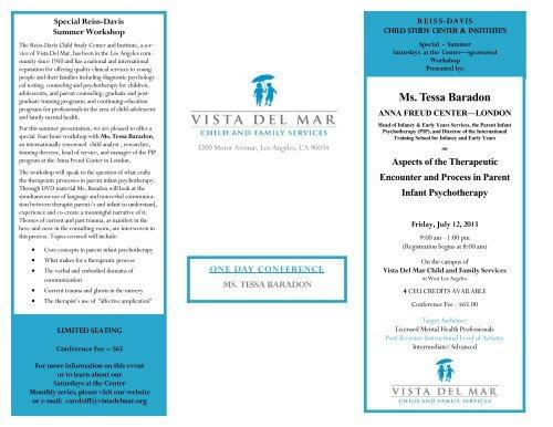 Ms Tessa Baradon Vista Del Mar Child And Family Services