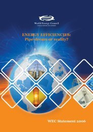 ENERGY EFFICIENCIES: Pipe-dream or reality? - World Energy ...