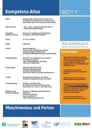 Kompetenz-Atlas 2011 - Die Maschinenbau Redaktion