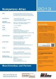 Mediadaten 2013. - Die Maschinenbau Redaktion