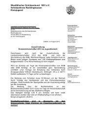 Ausschreibung Kreismeisterschaft 2013 - Schuetzenkreis ...