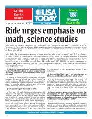 Ride urges emphasis on math, science studies