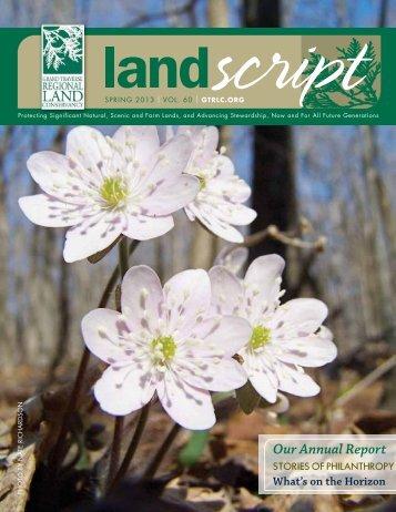 2013_Spring - Grand Traverse Regional Land Conservancy