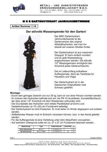 gartenhydrant magazine