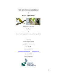 BIRD INVENTORY AND MONITORING at LAGUNA de SANTA ROSA