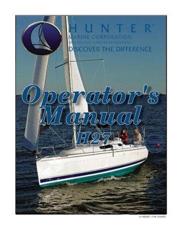 27 Operator's Manual.. - Marlow-Hunter, LLC