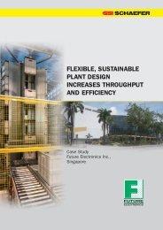 flexible, sustainable plant design increases throughput ... - SSI Schäfer