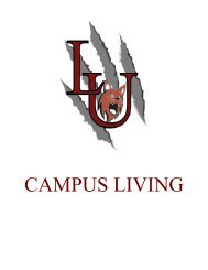 LINDENWOOD UNIVERSITY BELLEVILLE CAMPUS LIVING