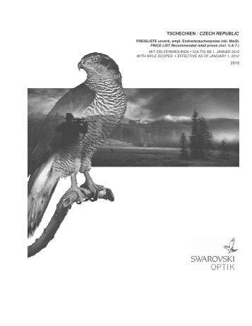 Maloobchodní ceník SWAROVSKI OPTIK 1.2012