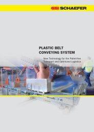 PLASTIC BELT CONVEYING SYSTEM - SSI Schäfer