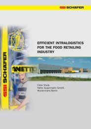 efficient intralogistics for the food retailing industry - SSI Schäfer