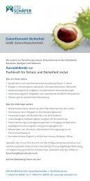 Auszubildende zur Fachkraft für Schutz und ... - OSD SCHÄFER
