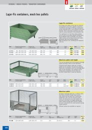 Lager-Fix containers, mesh box pallets