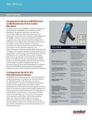 MC9090-G Datasheet-German - Motorola Solutions