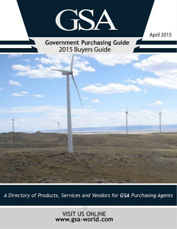 GSA Buyers Guide - April 2015