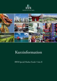 Kurzinformation - RWB Special Market Fonds Asia II