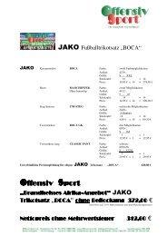Afrika Trikotangebot 2010 40 Rabatt JAKO BOCA ... - Offensiv Sport