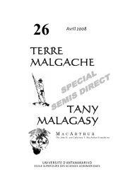 TERRE MALGACHE TANY MALAGASY - GSDM