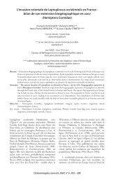 L'invasion orientale de Leptoglossus occidentalis en France - site ...