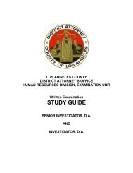LADA Investigator Written Examination Study Guide - Los Angeles ...