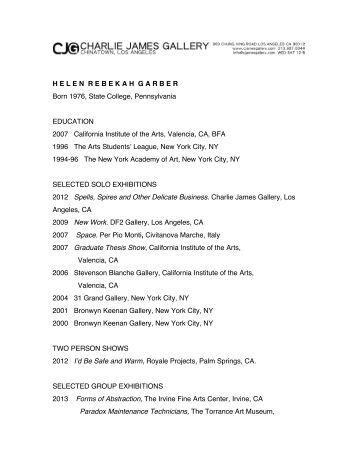 Artists Resume
