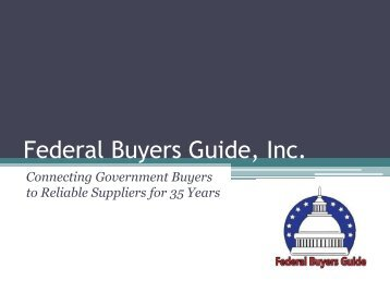 Federal Buyers Guide: Our Products