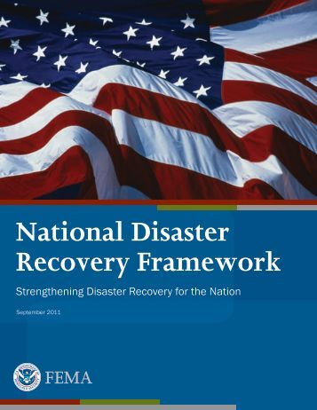 National Disaster Recovery Framework - Federal Emergency ...