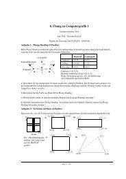8. Übung zu Computergrafik 1