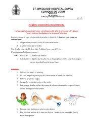 Hygiène corporelle préopératoire - St. Nikolaus-Hospital Eupen