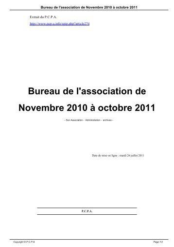 Bureau de l'association de Novembre 2010 à octobre 2011 - OVH.net
