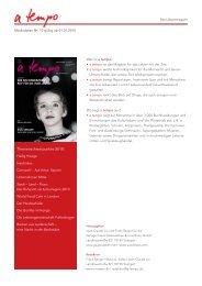 Themenschwerpunkte 2010: - Verlag Freies Geistesleben
