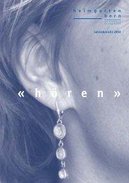 Jahresbericht 2003 - Heimgarten