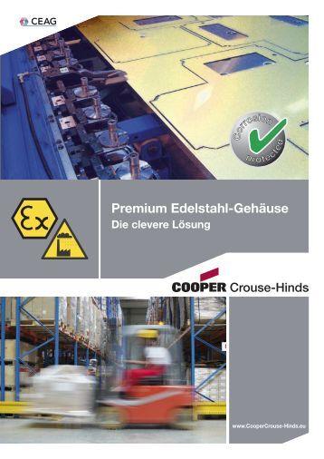 Premium Edelstahl-Gehäuse - Cooper Crouse-Hinds