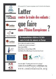TRAITE recommandations synthese 061008 - Ecpat France