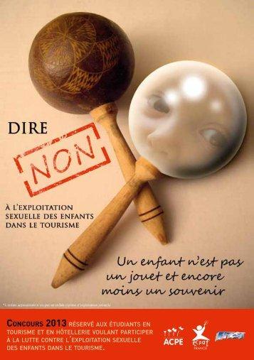 ConCours 2013 RÉSERVÉ AUX ÉTUDIANTS EN ... - Ecpat France